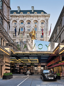 The Savoy Hotel Entrance